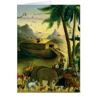 Noah's Ark by Hidley, Vintage Victorian Folk Art Greeting Cards