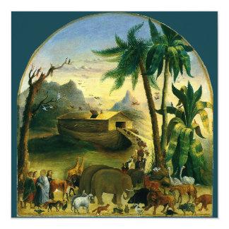 Noah's Ark by Hidley, Vintage Victorian Folk Art Personalized Invite