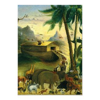 Noah's Ark by Hidley, Vintage Victorian Folk Art Personalized Invitation