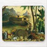 Noah's Ark by Hidley, Vintage Victorian Folk Art Mouse Pad