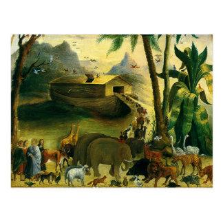 Noah's Ark by Hidley, Vintage Victorian Folk Art Post Cards