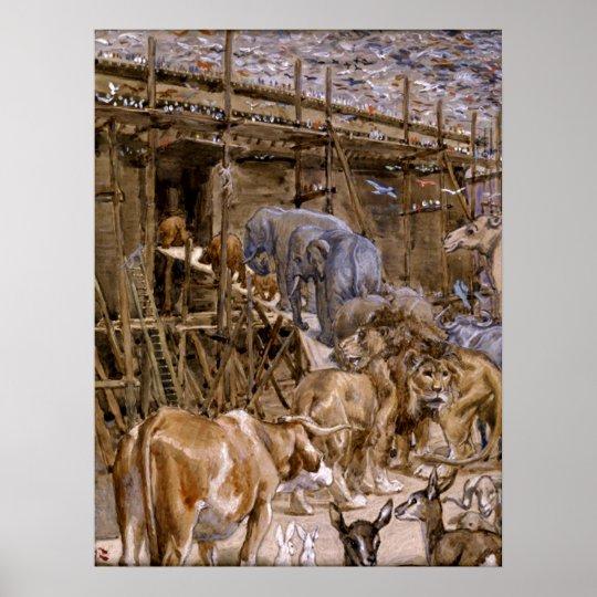 Noah's Ark by James Tissot - Circa 1900 Poster