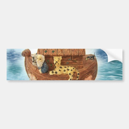 Noah's Ark Car Bumper Sticker