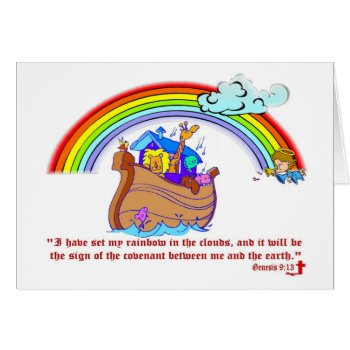 Noah's Ark Card by 4westies at Zazzle