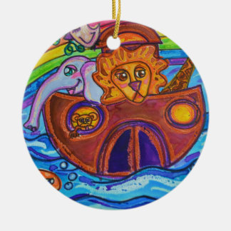Noah's Ark Ceramic Ornament