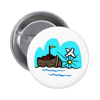 Noah's ark Christian artwork_1 2 Inch Round Button