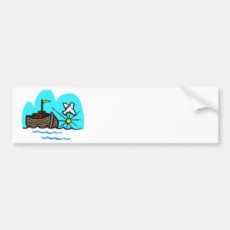 Noah's ark Christian artwork_1 Bumper Sticker
