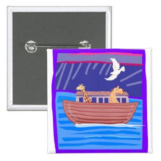 Noah's ark Christian artwork_2 Pinback Buttons