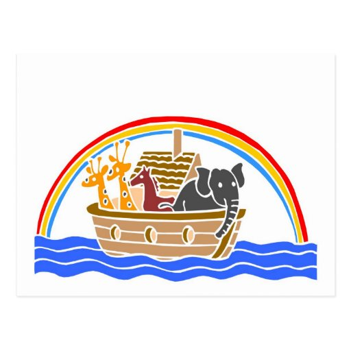 Noah's ark Christian artwork_4 Postcard