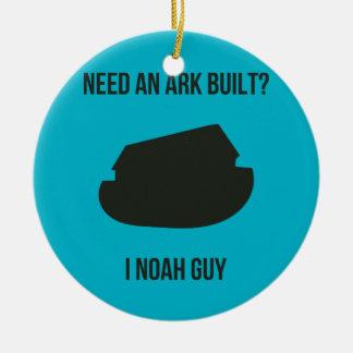 Noah's Ark Christian Pun Ceramic Ornament