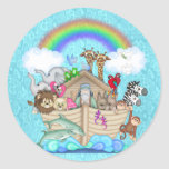 NOAHS ARK CUPCAKE TOPPER FOR BABY  SHOWER STICKERS