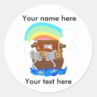 Noah's Ark Customizable Classic Round Sticker