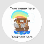 Noah's Ark Customizable Round Stickers