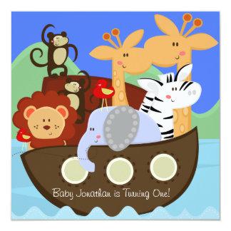 Noah's Ark Customized Birthday Invitations