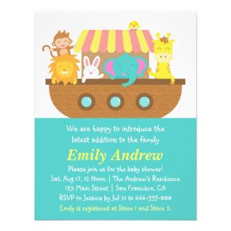 Noah's Ark, Cute Animals, Baby Shower Invite