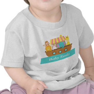 Noah's Ark, Cute Animals for Baby Boy or Girl Shirts
