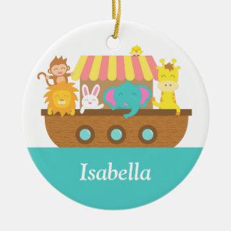 Noah's Ark, Cute Animals for kids Ceramic Ornament