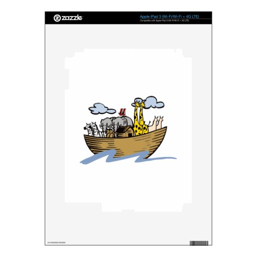 Noah's Ark Decal For iPad 3