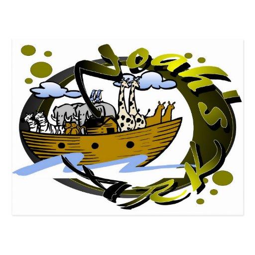 Noah's ark design post cards