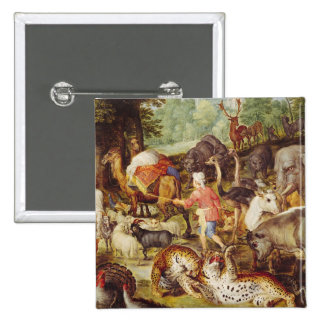 Noah's Ark, detail of the right hand side 2 Inch Square Button