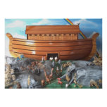 Noahs Ark Diorama Picture Posters