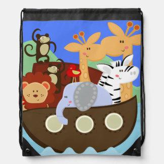 Noah's Ark Drawstring Backpack Bag