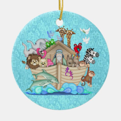 NOAHS ARK FIRST CHRISTMAS ORNAMENT PERSONALIZED
