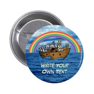 Noah's Ark - God's Rainbow Covenant Pinback Buttons