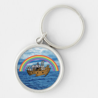 Noah's Ark - God's Rainbow Covenant Keychain