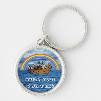 Noah's Ark - God's Rainbow Covenant Keychain