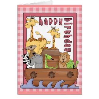 Noah's Ark Happy Birthday Greeting Card