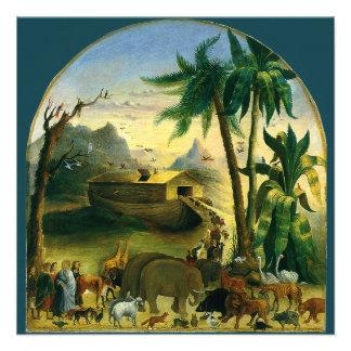 Noahs Ark Hidley Vintage Victorian Religious Art Personalized Invite