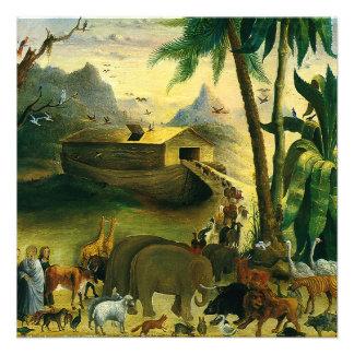 Noahs Ark Hidley Vintage Victorian Religious Art Custom Invitations
