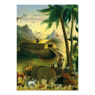 Noahs Ark Hidley Vintage Victorian Religious Art Personalized Invitation