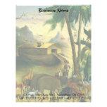 Noahs Ark, Hidley, Vintage Victorian Religious Art Letterhead Design