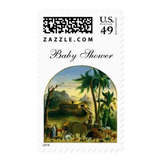 Noahs Ark, Hidley, Vintage Victorian Religious Art Stamp