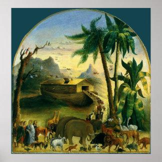 Noahs Ark Hidley Vintage Victorian Religious Art Print