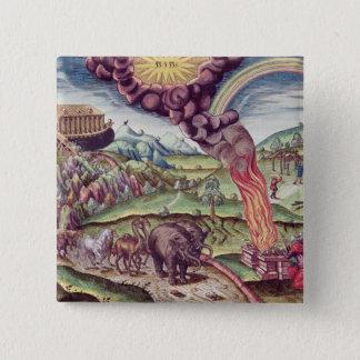 Noah's Ark, illustration from 'Brevis Narratio' Button
