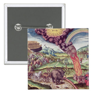 Noah's Ark, illustration from 'Brevis Narratio' 2 Inch Square Button