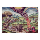 Noah's Ark, illustration from 'Brevis Narratio' Greeting Card
