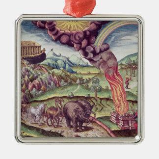 Noah's Ark, illustration from 'Brevis Narratio' Metal Ornament