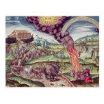 Noah's Ark, illustration from 'Brevis Narratio' Postcards