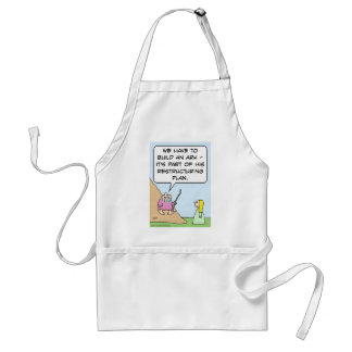 Noah's ark is for God's restructuring plan Adult Apron