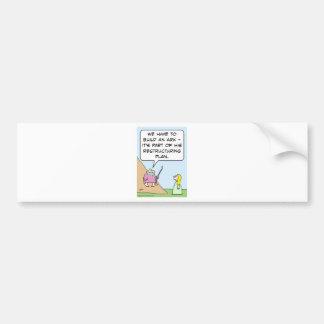 Noah's ark is for God's restructuring plan Bumper Sticker