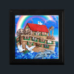"Noah&#39;s Ark Jewelry Box<br><div class=""desc"">Noah&#39;s Ark artwork by Gail Gastfield.</div>"