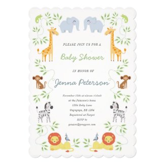 Noah's Ark Jungle Baby Shower Invitation