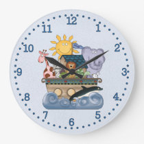 Noah's Ark Large Clock