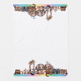 Noah's Ark Lineup Blanket Stroller Blanket