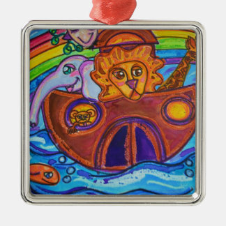 Noah's Ark Metal Ornament