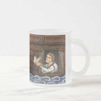 Noah's Ark Mosaic - Circa 1200 - Artist Unknown Frosted Glass Coffee Mug
